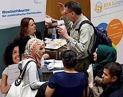 """Jobmesse """"Ausländische Fachkräfte finden"""" 15. April 2016, IHK Region Stuttgart. Foto: IHK/Kraufmann."""