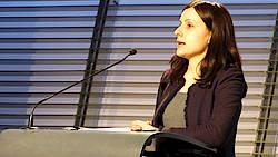 Foto: Italienisches Generalkonulat Stuttgart. Stanislava Rupp-Bulling, DGB Faire Mobiltät. Vortrag HWK Stuttgart, 03.02.16